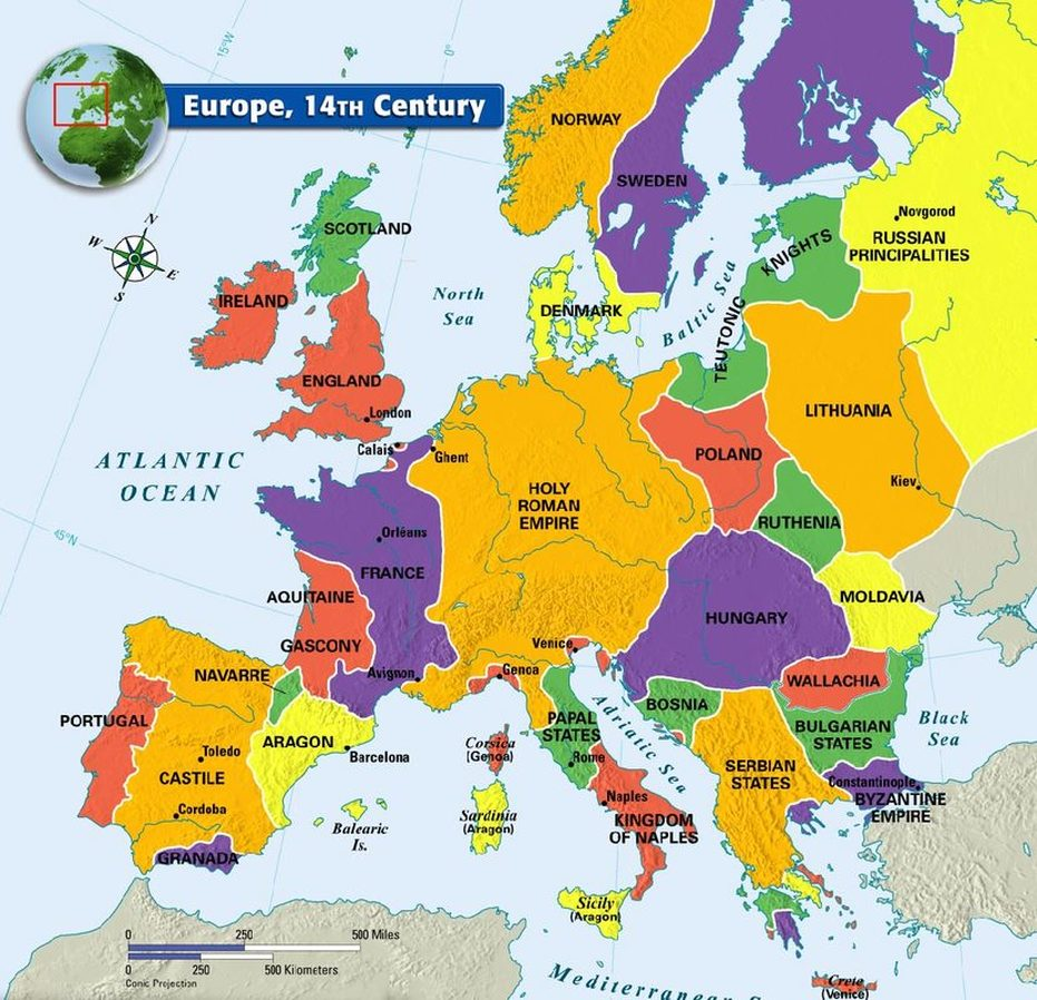 Medieval Map of Europe - Mr. Colwell's 7th Grade World History Cl on